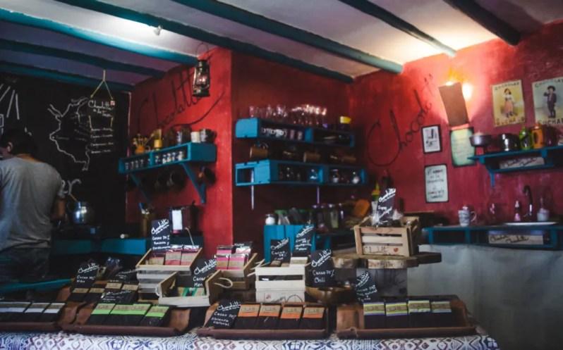 Chocolatt hot chocolate shop Villa de Leyva, Colombia   Bogotá breaks   traditional Colombian town pueblo   Travel guides by Cuppa to Copa Travels