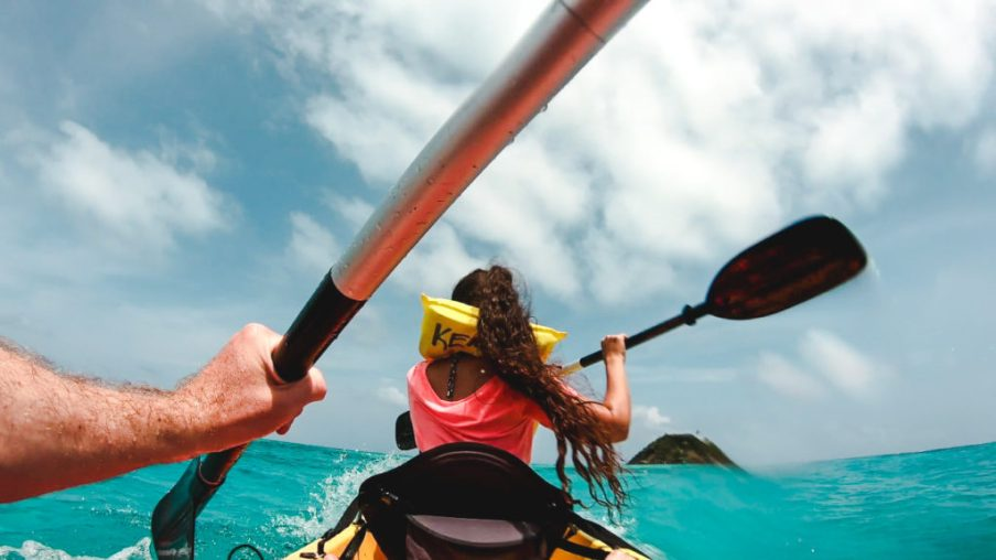 Kayak to Crab Cay Cayo Cangrejo Isla de Providencia | Colombia travel guides by Cuppa to Copa Travels