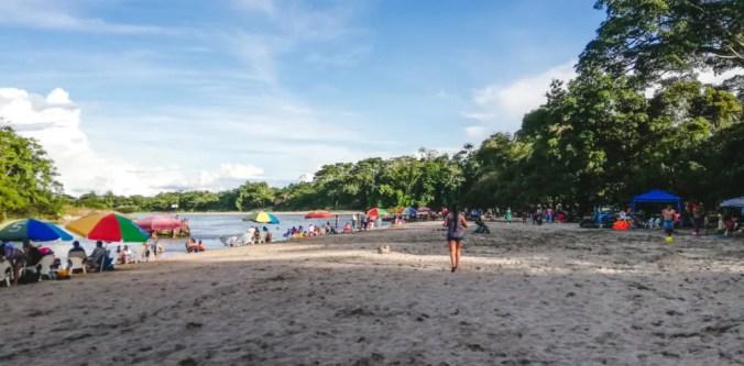 Beach Puerto Misahuallí Rio Napo Ecuador's Amazon