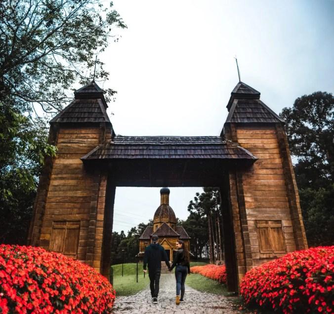 Tingui Park Curitiba Ukrainian church travel couple guide Brazil