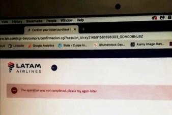 Struggle to book internal flights in Brazil Latam