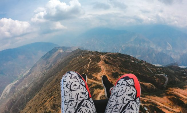 Paragliding in San Gil Santander Colombia cañon Chicamocha canyon