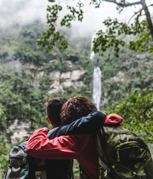 Travel Colombia with a teen trip la chorrera waterfall hike choachi bogota