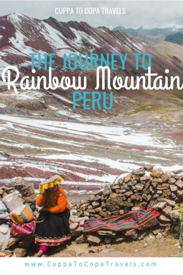 Hiking Rainbow Mountain Cusco Peru tour