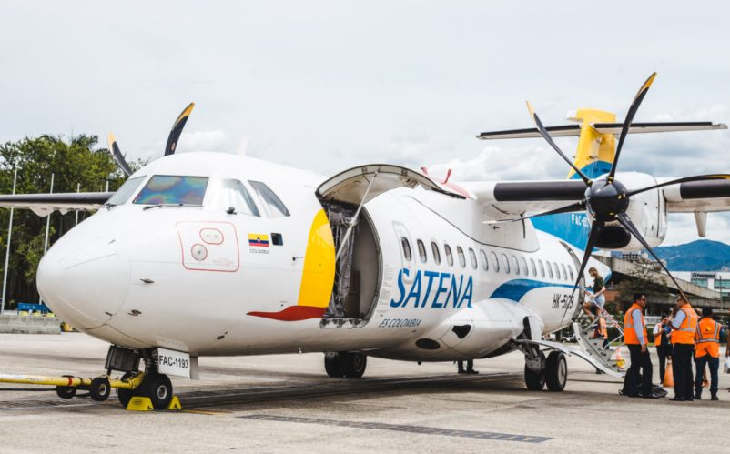 Satena propeller plane how to get to bahia solano airport choco colombia