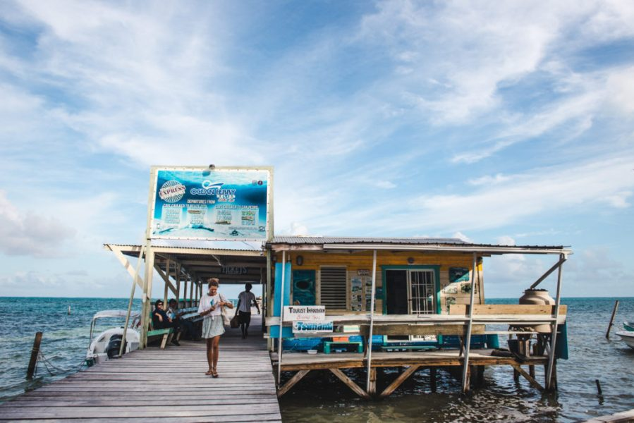 How to get to the Port Caye Caulker Ocean Ferry company Belize City boat