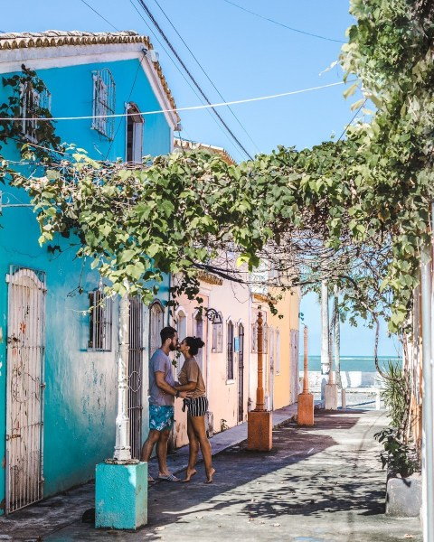 Porto seguro bahia brazil colourful houses