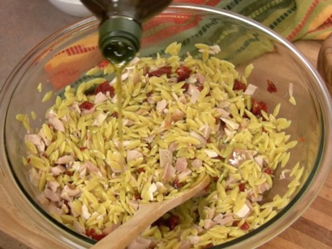 Orzo with Chicken and Sun Dried Tomatoes 7