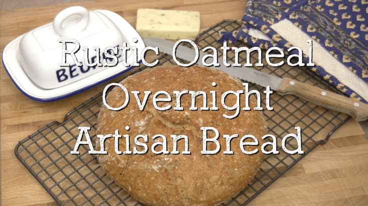 "Heavenly Rustic Oatmeal ""Overnight"" Artisan Bread 2"