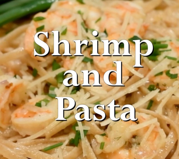 Shrimp and Pasta and Fresh Grated Parmesan