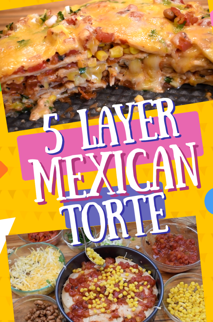 Savory 5-Layer Vegetarian Mexican Torte