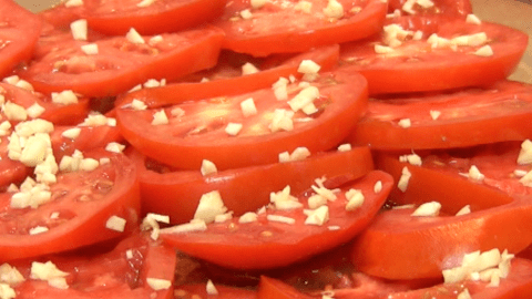 Roasted Tomatoes with Herbs and Cheese 1