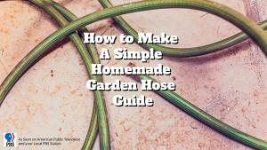 homemade garden hose guide
