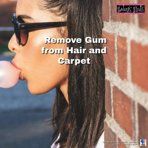 remove gum from hair