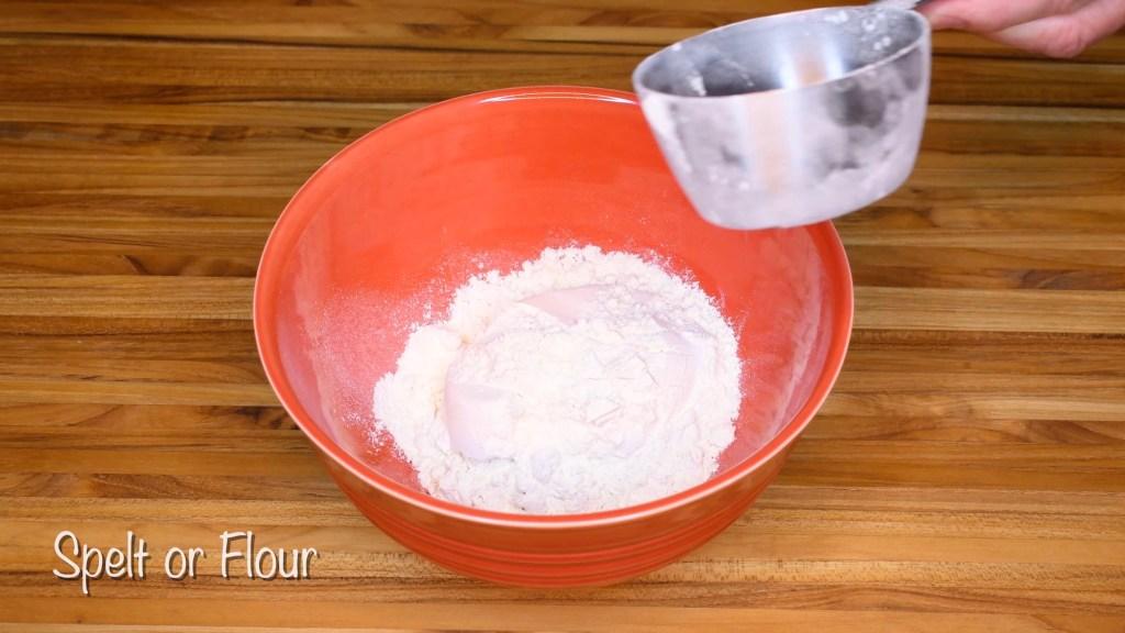 flour to bowl