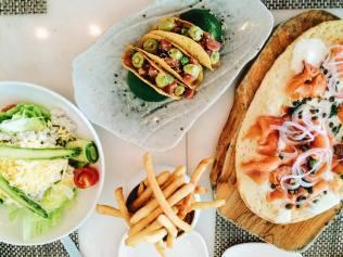 Delicious food. Look at that ahi tuna tacos!