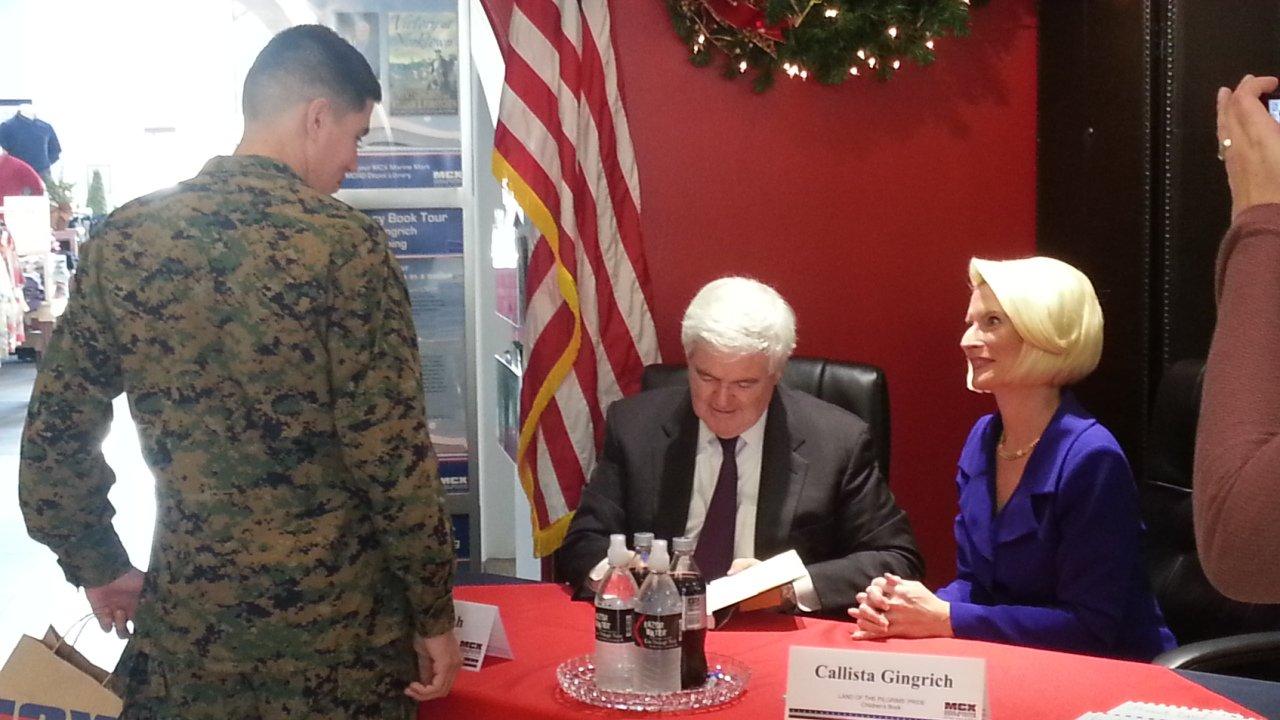 Newt Gingrich & Callista Gingrich Book Signing