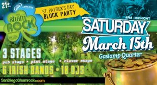 San Diego Shamrock, San Diego, San Diego Parties, San Diego Lifestyle, San Diego Food