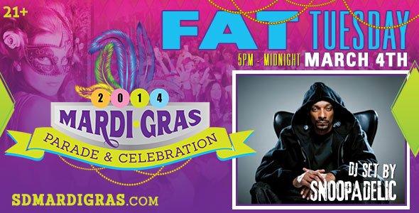 Snoopadelic, Snoop Dogg, SD Mardi Gras, San Diego parties, San Diego Lifestyle