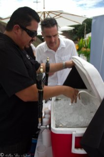 Chef Alex Carballo of URBN Brewery, San Diego Restaurant Week Launch Party 2015, Encinitas CA at Go Green Agriculture