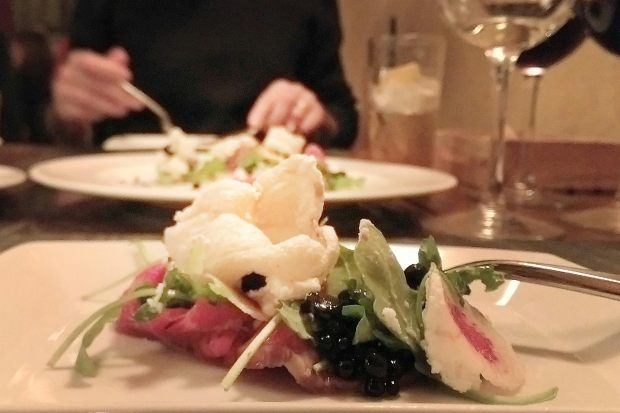 Wagyu Beef Carpaccio - Chef Accursio Lota - Solare Lounge - San Diego - Cur8eur Eats - A Gal and Her Fork