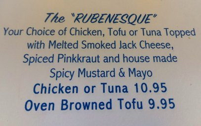 the Rubenesque, sandwich, California's Table, North Park