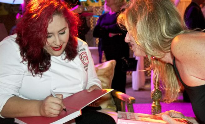Chef Claudia Sandoval and Kristi Pieper at the Mingei Museum in Balboa Park, San Diego