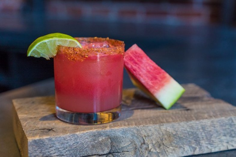Madero | Coralejo Blanco, Watermelon Cordial, Lime, Tajin