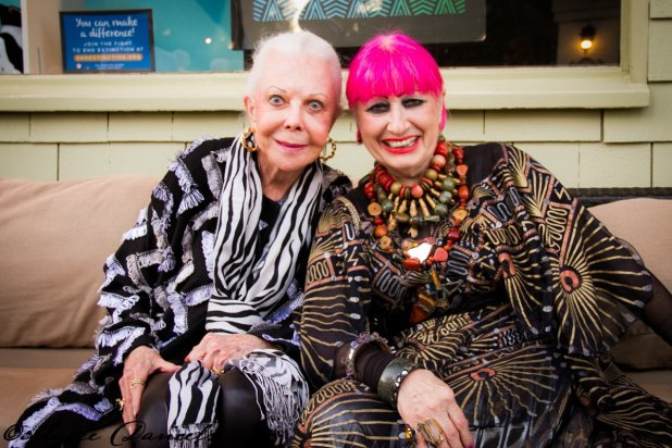 Jeanne Jones, Zandra Rhodes, Zoo RITZ, 2017, San Diego Zoo, San Diego, Gala, Charity, Animals,