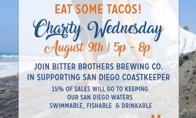 san diego coastkeeper, bitter brothers brewing company, charity wednesday, san diego brewery
