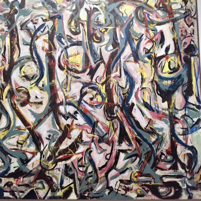 Middle section of 'Mural' by Jackson Pollock