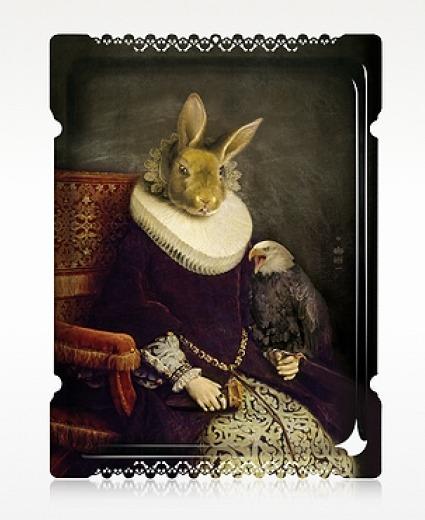 The Rabbit's Palace Rectangular Tray