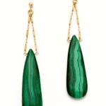 Green Gemstone Drop Earrings – Heather Hawkins  $136  WORLDWIDE FREE SHIPPING