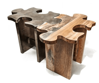 Unique Wooden Coffee Table Or Stool - Jigsaw Puzzle