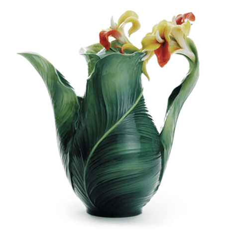 Most Beautiful Teapot - Garden Lily Leaf By Franz Collection