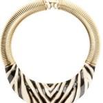 Vintage Givenchy Necklace Zebra Choker  $629