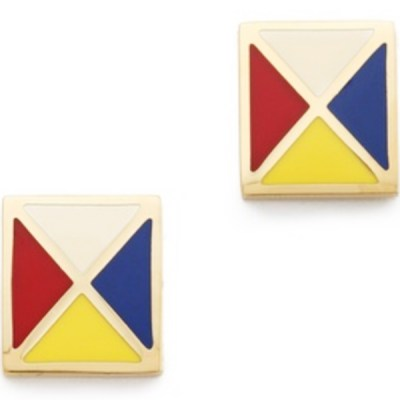Bright Retro Flag Tory Burch Earrings