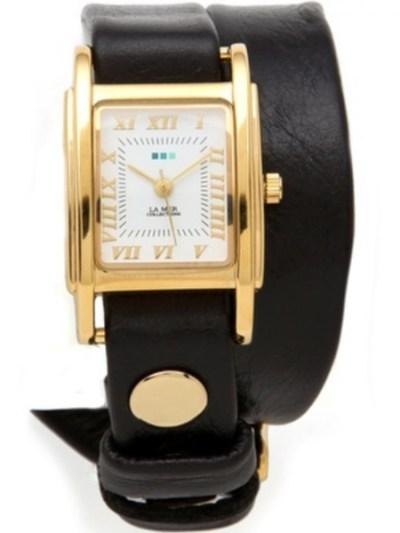 Gold Watch & Interchangeable Watch Strap Set