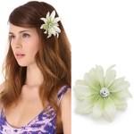 Elegant White Flower Barrette Dauphines New York $50 FREE WORLDWIDE SHIPPING