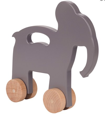Minimal Chic Elephant Eco-Friendly Kids Wooden Push Toys