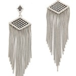 Rebecca Minkoff Great Gatsby Inspired Silver Earrings $98 FREE WORLDWIDE SHIPPING