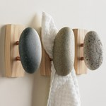 Natural Modern Home Decor Stone Bathroom Hooks $59