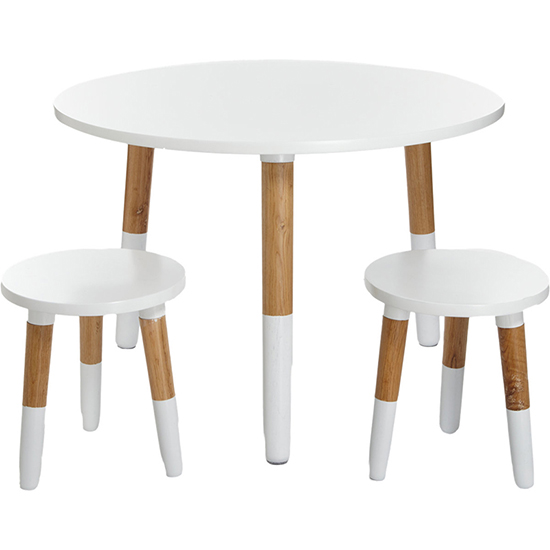 Modern Kids White Wooden Table U0026 Chairs