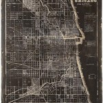 Map Of Chicago Wall Art $95 FREE SHIPPING
