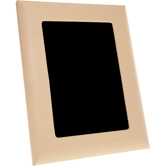 Modern Cream Leather Photo Frame