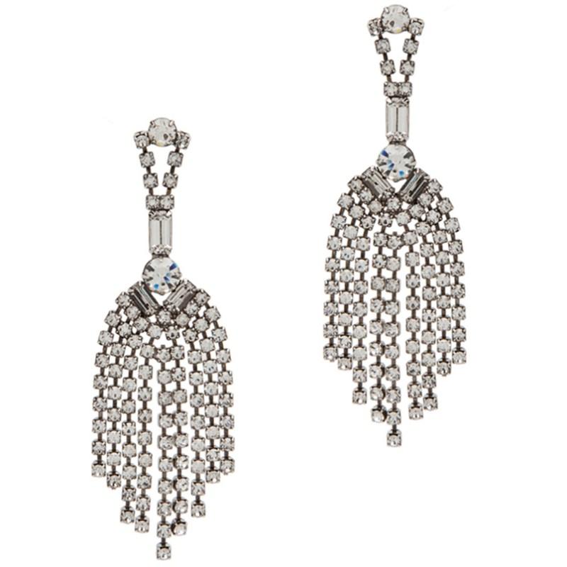 Tom Binns Crystal Chandelier Earrings