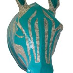 Zebra Paper Mache Head – Modern Childs Room Decor
