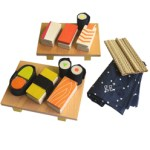 Kids Wooden Sushi Set By Kaz Shiomi $50