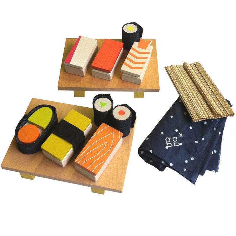 Kids Wooden Sushi Set