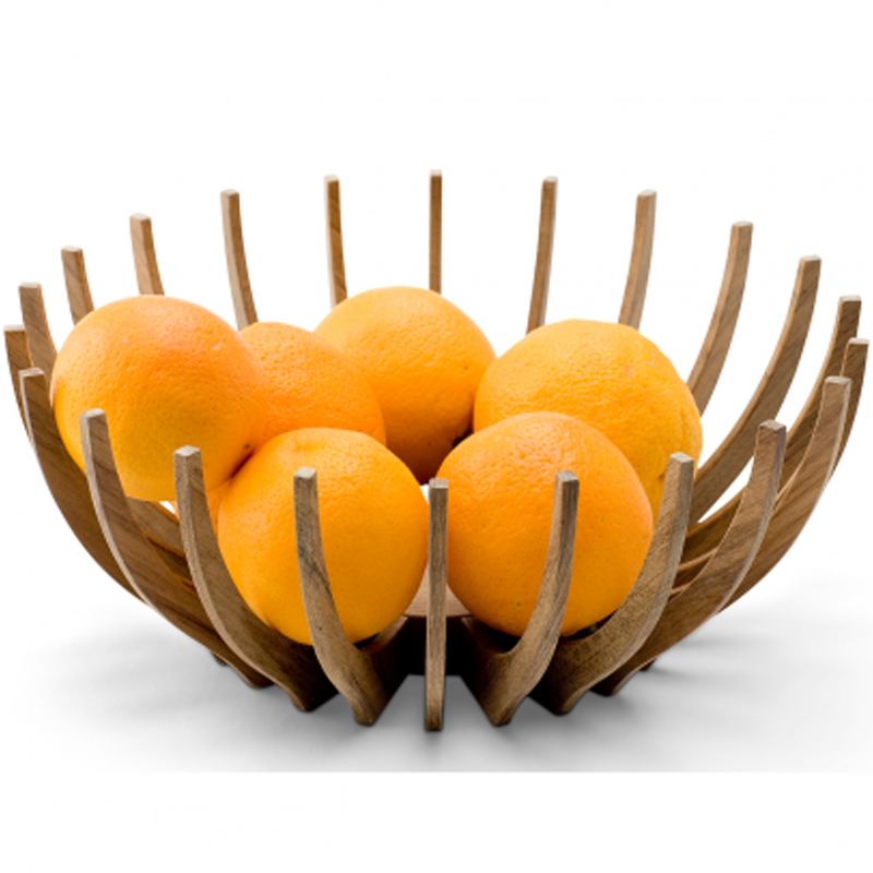 Contemporary Wooden Fruit Bowl